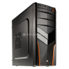 Aerocool V2X Orange Edition Midi-Tower - schwarz/orange
