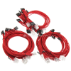 Super Flower Sleeve Cable Kit - rot