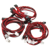 Super Flower Sleeve Cable Kit - schwarz/rot