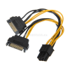 Akasa 2x 15-Pin-SATA auf 1x 6-Pin-PCIe Adapter