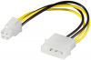 Stromadapter 4-Pin 5,25´´ auf 4-Pin P4-Mainboard, Good Connections®