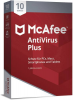 McAfee AntiVirus Plus 10 Device Vollversion, 10 Lizenzen Android, iOS, Mac, Windows Antivirus, Siche