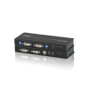 Aten CE604 USB Dual View DVI KVM Extender with Audio and RS-232 (60m) schwarz