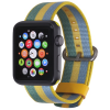 StilGut Nylon Armband für Apple Watch Serie 1-4 42mm gelb/blau