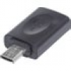 Manhattan USB 2.0 Adapter [1x USB 2.0 Stecker Micro-B - 1x USB 2.0 Buchse Micro-B] 151481