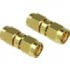 Delock WLAN-Antennen Adapter [1x SMA-Stecker - 1x SMA-Stecker] 0.00m Gold