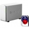 Synology Diskstation DS218j NAS 2-Bay 4TB inkl. 2x 2TB WD RED WD20EFAX