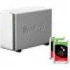 Synology DS218j NAS System 2-Bay 2TB inkl. 2x 1TB Seagate ST1000VN002