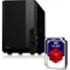 Synology Diskstation DS218 NAS 2-Bay 20TB inkl. 2x 10TB WD RED WD100EFAX