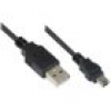 Good Connections USB2.0 Kabel St. A an St. Mini B 5-pin, schwarz, 0,15m
