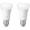 Philips Hue White E27 LED Lampe Doppelpack 2x 9 W Bluetooth
