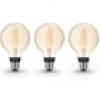 Philips Hue White E27 Filament Globe LED Lampe 7 W Bluetooth 3er Set