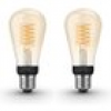 Philips Hue White E27 Filament ST64 LED Lampe 7 W Bluetooth Doppelpack