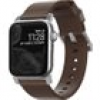 Nomad Strap Modern Leather Brown Connector Silver 38/40 mm