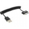 InLine Samsung Galaxy Tablet USB Spiralkabel, Samsung Stecker an USB A Stecker 1m