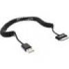 InLine Samsung Galaxy Tablet USB Spiralkabel, Samsung Stecker an USB A Stecker 2m