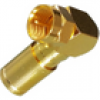 Winkel F-Kompressionsstecker 6,8-7,2mm Vollmetall Gold HQ 90°