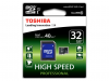 Toshiba High Speed Professional, micro-SDHC-Karte, 32 GB, Kl. 10, SD-Adapter